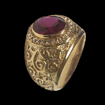 10k gold men's ring with...