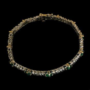 14k Two Tone Woman Bracelet