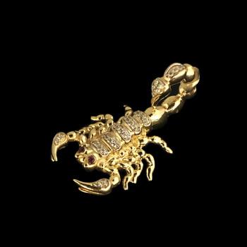 14k Yellow Gold Scorpion Charm