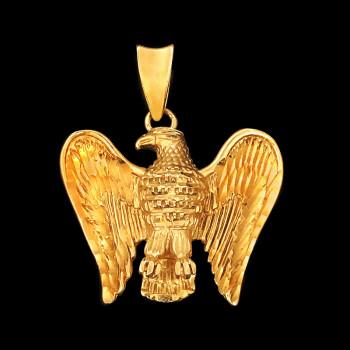 14k Yellow Gold Eagle Charm