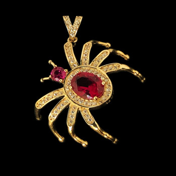 14k Yellow Gold Spider Charm