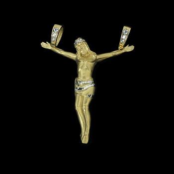 14k Yellow Gold Jesus Charm