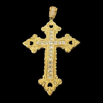 10k Yellow Gold Crucifix Charm