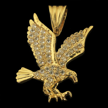 10k Yellow Gold Eagle Charm