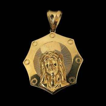 14k Yellow Gold Jesus Face...