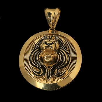 14k Yellow Gold Lion Charm