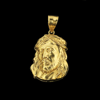 10k Yellow Gold Jesus Face...