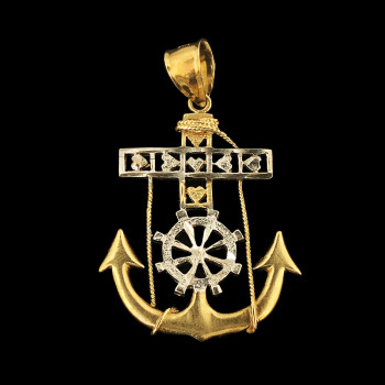 10k Yellow Gold Anchor Charm