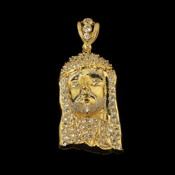 10k Yellow Gold Jesus Face...