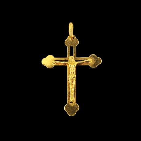 18k Yellow Gold Cross Charm