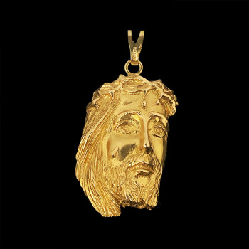18k Yellow Gold Jesus Face...