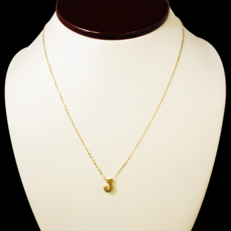 14k Yellow Gold Chain with Pendant (J)