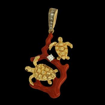 14k Yellow Gold Pendant...