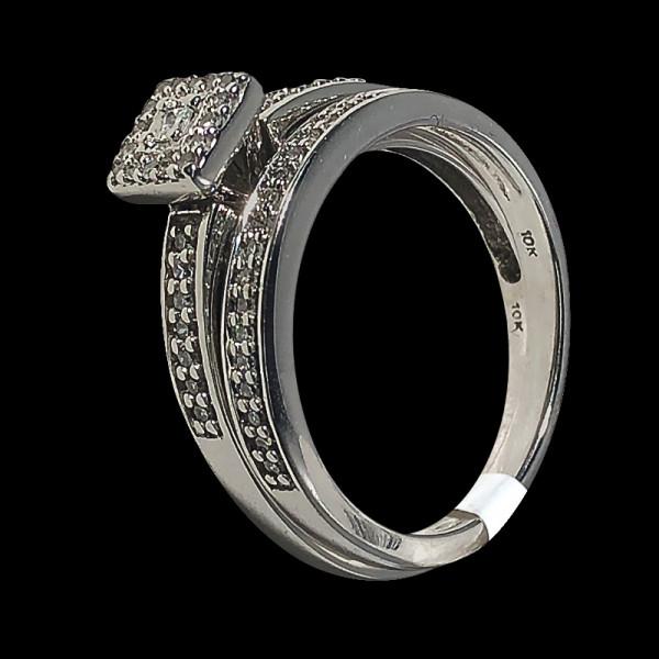 14k White Gold Diamond Wedding Rings