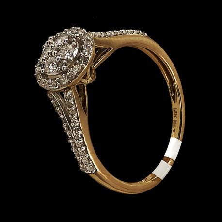 14k Yellow Gold Diamond Solitaire