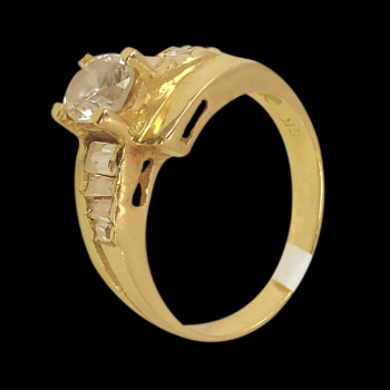 18k Yellow Gold Solitaire Ring