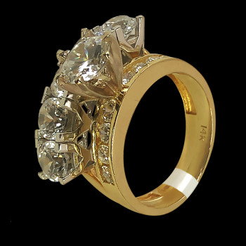 14k Yellow Gold and Cubic...