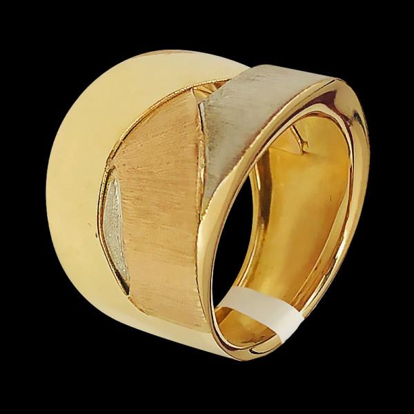14k Gold Fancy Ring three tones