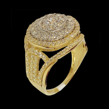 14k Gold Fancy Ring with...
