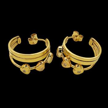 18k Yellow Gold Earring