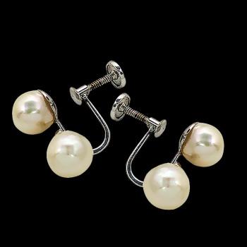 Aretes de oro 14k y Perlas