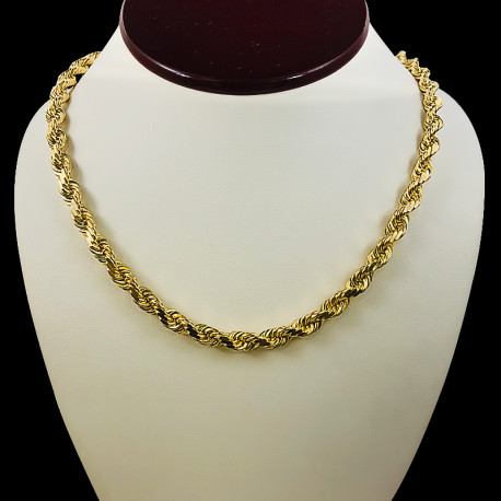 10k Yellow Gold Rope Link Chain