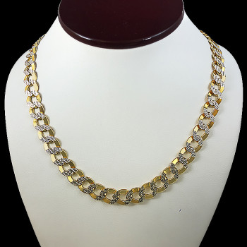 10k Yellow Gold Curve Link...