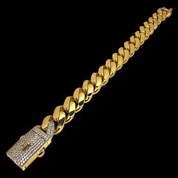 10k Yellow Gold Monaco Link...