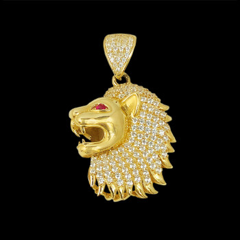 14 kt Yellow Gold Lion Pendant