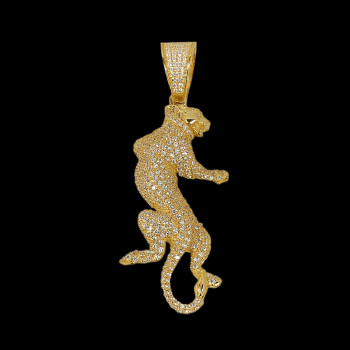 14 kt Yellow Gold Panther...