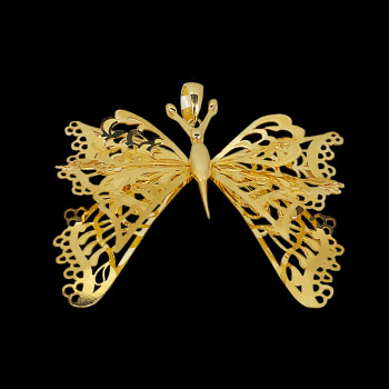14 kt Yellow Gold Butterfly...