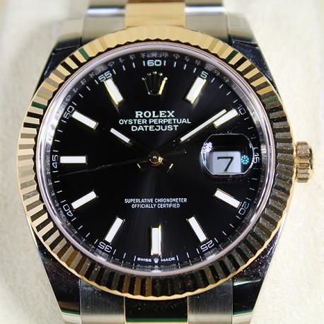 Rolex Datejust Acero Inoxidable y Oro 18K con Esfera Negra