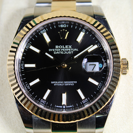 Rolex Datejust Stainless Steel and 18K Gold , Black Dial