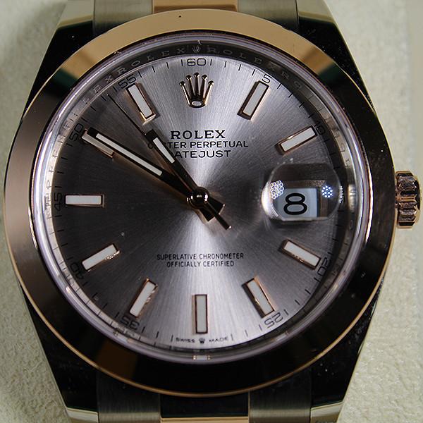 Rolex Datejust Acero Inoxidable y Oro Rosado 18K con Esfera Blanca