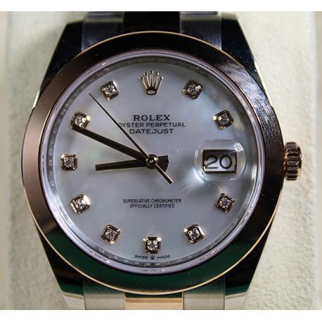 Rolex Datejust Acero Inoxidable y Oro 18K con Esfera Madre Perla y Diamantes