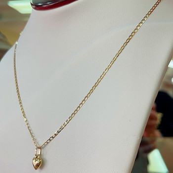 10K Gold Chain with Heart...