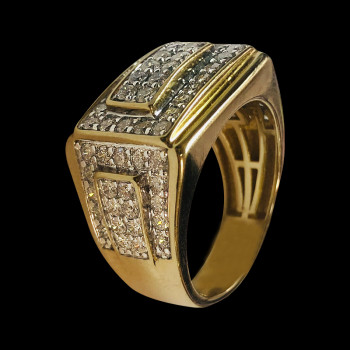 14k gold men's ring with...