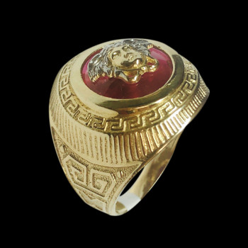 10k gold men's Fancy ring